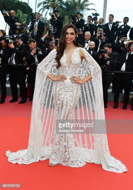 Deepika Padukone attends the screening of 'Sorry Angel ' during the 71st annual Cannes Film Festival at Palais des Festivals on May 10 2018 in Cannes...