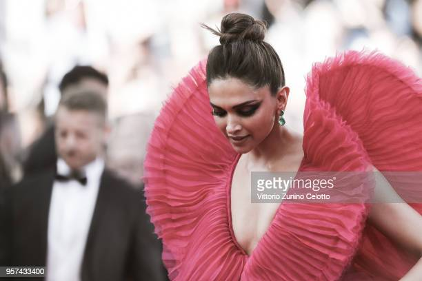 Deepika Padukone attends the screening of the film 'Ash is Purest White during the 71st annual Cannes Film Festival at on May 11 2018 in Cannes France