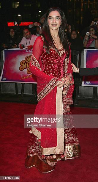 Deepika Padukone attends the World Premiere of 'Om Shanti Om' at the Empire Leicester Square on November 8 2007 in London