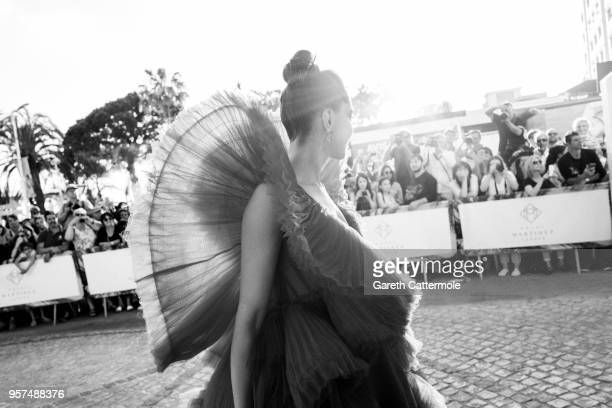 Deepika Padukone departs from the Martinez hotel during the 71st annual Cannes Film Festival at on May 11 2018 in Cannes France