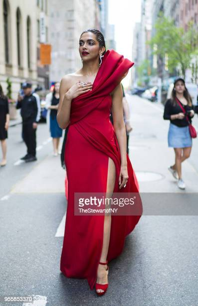 Deepika Padukone is seen at The Peninsula Hotel in Midtown on May 7 2018 in New York City