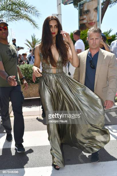 Deepika Padukone is seen during the 71st annual Cannes Film Festival at on May 11 2018 in Cannes France