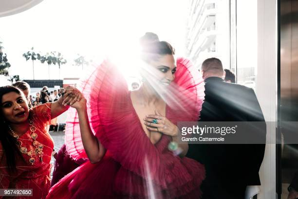 Deepika Padukone is seen leaving the Martinez Hotel ahead of the 'Ash Is The Purest White ' during the 71st annual Cannes Film Festival at on May 11...