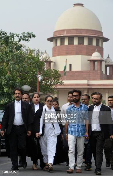 Deepika Singh Rajawat lawyer of Kathua rape case victim comes out of the Supreme Court after filling a petition in New Delhi