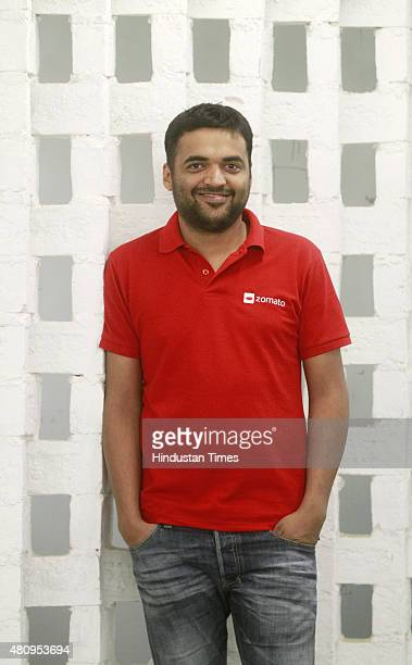 Deepinder Goyal, CEO and co-founder of Zomato at his office on July 11, 2015 in Gurgaon, India. Founded in July 2008, Zomato is an online restaurant...
