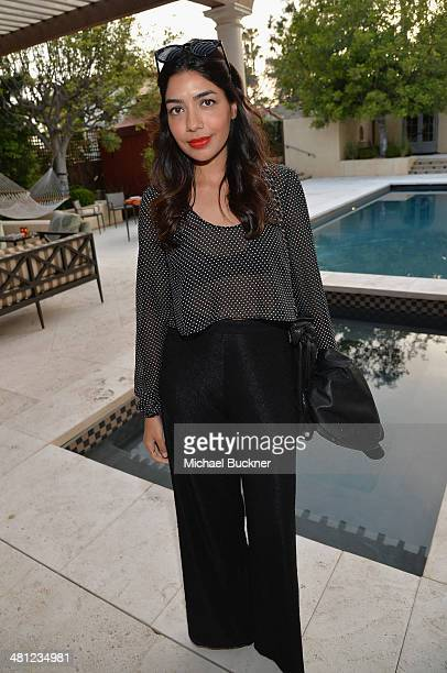 Deepki Chopra attend a reception to celebrate Rashida Jones' New Glamour Column hosted by Cindi Leive and Jane Buckingham at arivate residence on...