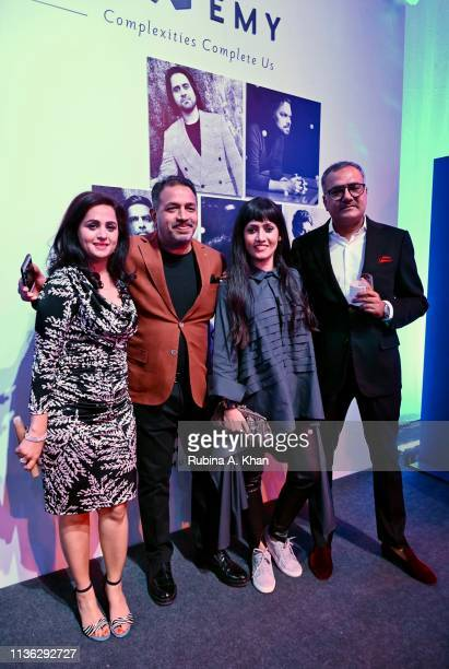 Deepti Dhingra Prem Dewan Neha Lidder and Shailesh Grover at the third edition of Chivas 18 Alchemy 2019 on March 16 2019 in New Delhi India