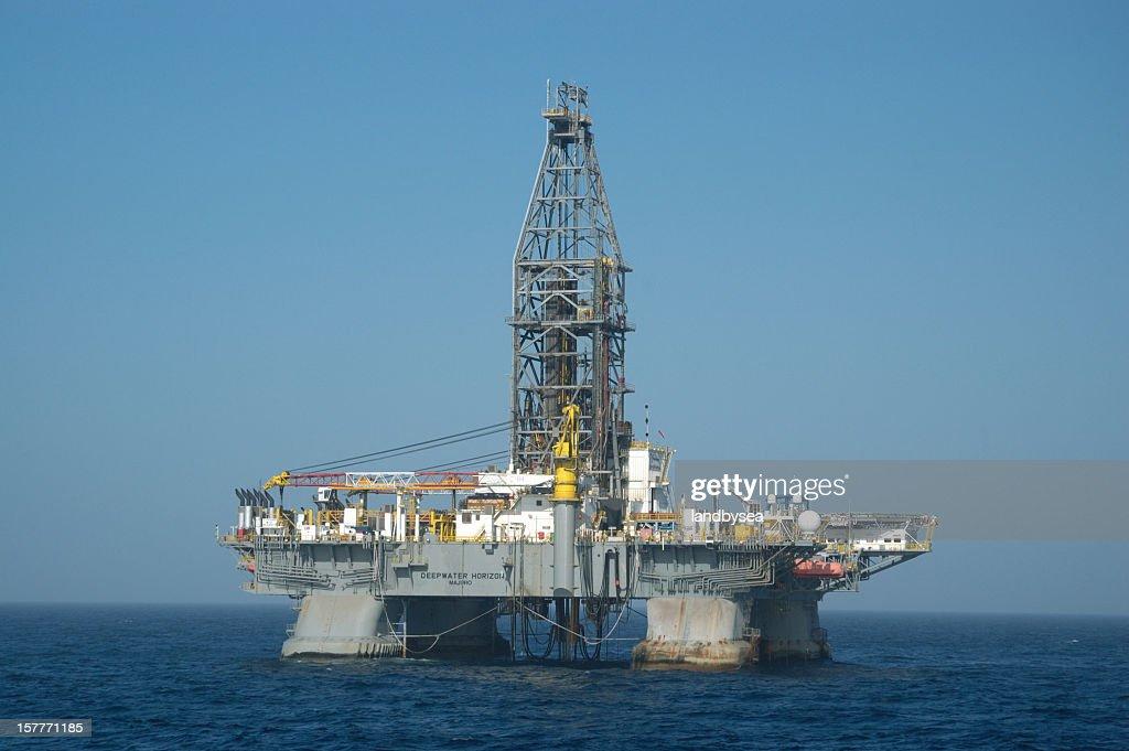 """Deepwater Horizon"" Offshore oil rig : Stock Photo"