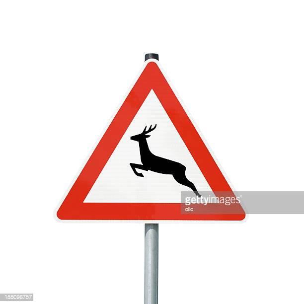 deer crossing sign - ollo stock-fotos und bilder
