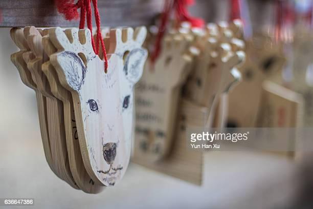 Deer Head Shaped Ema Plaques in Kasuga Taisha Shrine