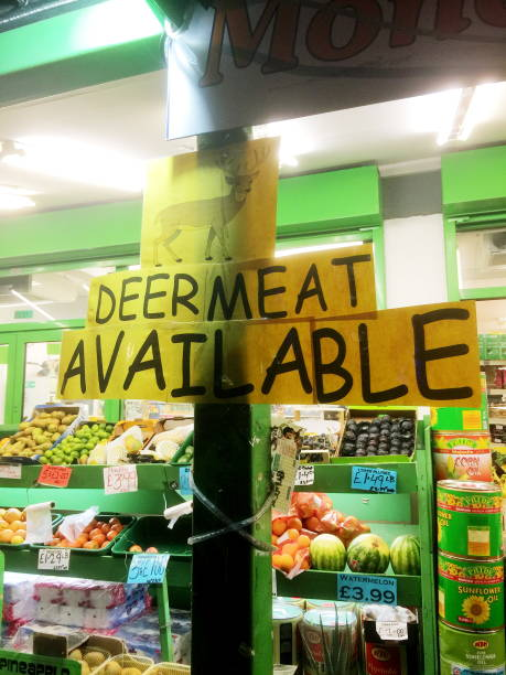 Deer meat is available in the stores or market