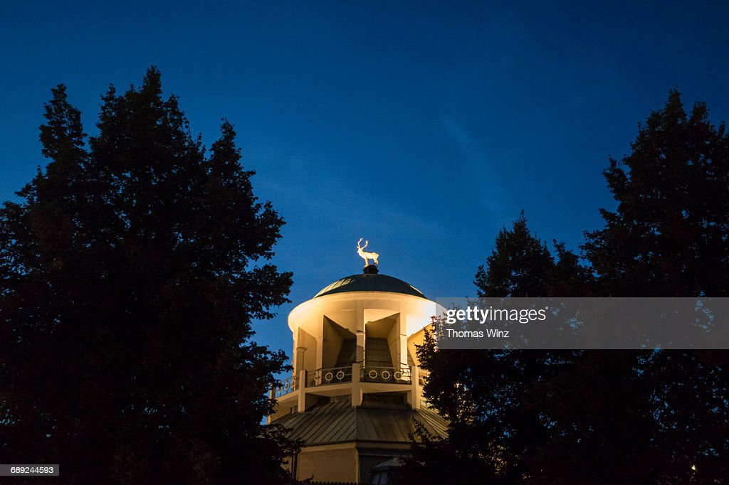 Deer Statue on a dome : Stock Photo