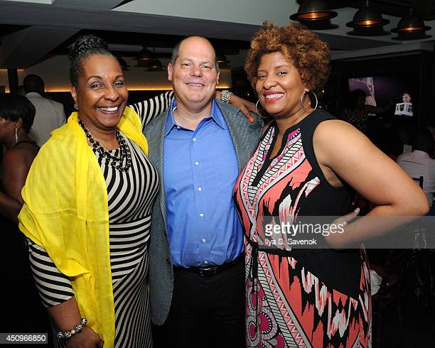 DeEtta West Matt Turner and UP/ASPiRE Sr Trade and Affiliate Marketing Tracey Tooks attend the 2014 ABFF_ UP TV Aspire TV Dinner at Soho House on...