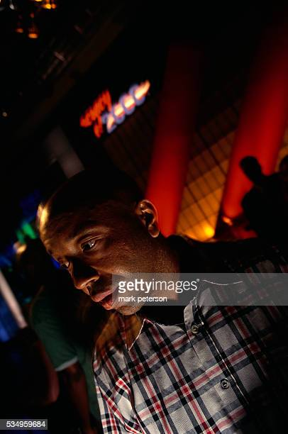 Def Jam Records CEO Russell Simmons in a television studio for the Rap The Vote 2000 campaign and television program Rap The Vote was created by Rock...