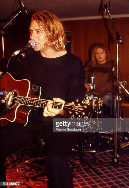 A Def Leppard acoustic performance from Wapentake Club Sheffield England October 1995 Joe Elliott on lead vocals Rick Allen drums backing vocals