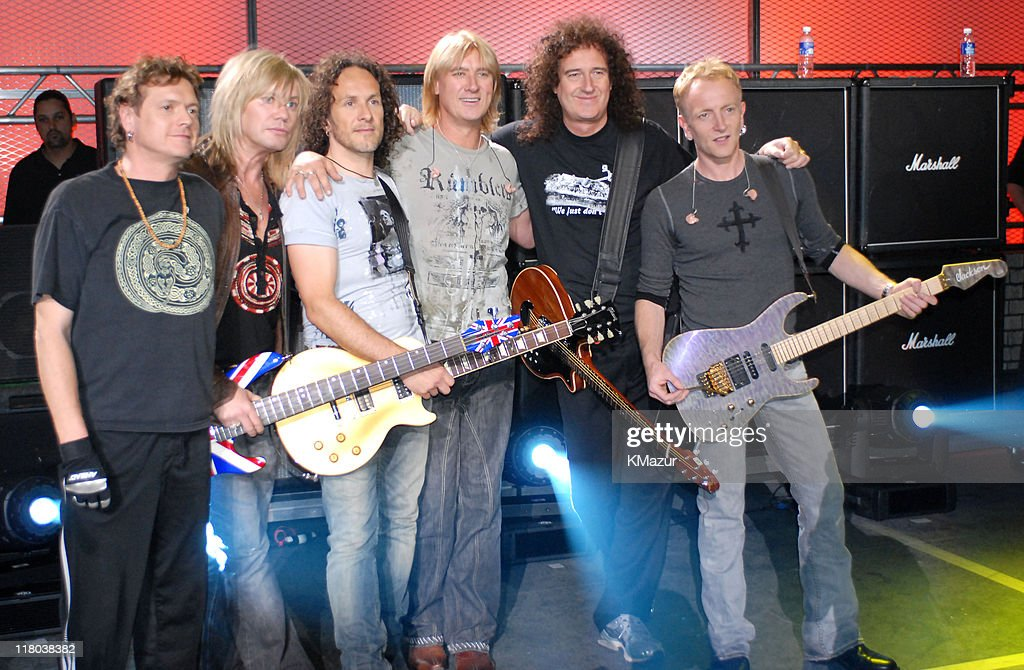 Def Leppard and Brian May of Queen during 2006 VH1 Rock Honors - Rehearsals - Day One at Mandalay Bay Hotel and Casino in Las Vegas, Nevada, United States.
