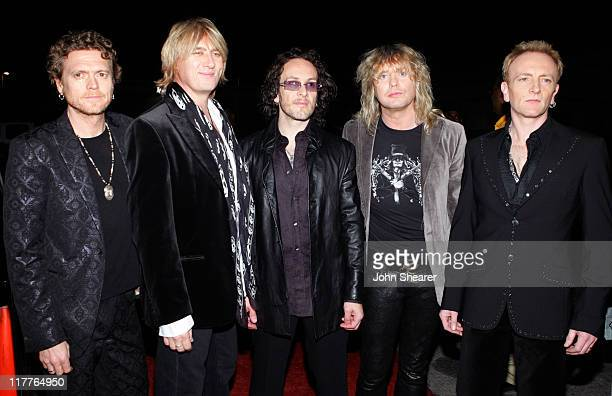 Def Leppard during 2005 Spike TV Video Game Awards Red Carpet at Gibson Amphitheater in Universal City California United States