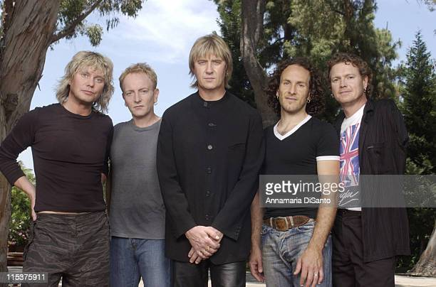 Def Leppard during Def Leppard Photo Session at Los Angeles Location in Los Angeles, California, United States.