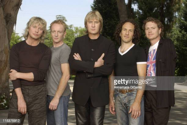Def Leppard during Def Leppard Photo Session at Los Angeles Location in Los Angeles California United States