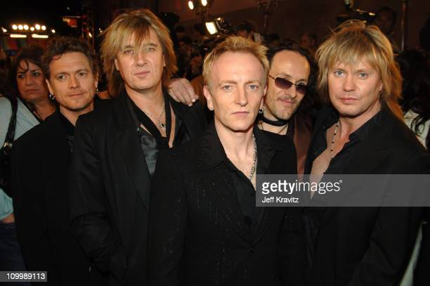 Def Leppard during VH1 Big in '05 Red Carpet at Sony Studios in Los Angeles California United States
