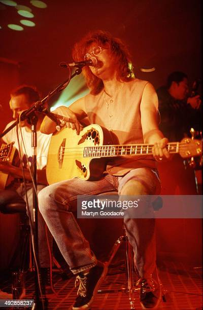 Def Leppard perform an acoustic show at Wapentake Club, Sheffield, United Kingdom, 5th October 1995. Rick Savage .