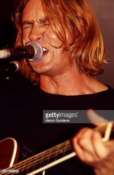 Def Leppard perform an acoustic show at Wapentake Club, Sheffield, United Kingdom, 5th October 1995. Joe Elliott .