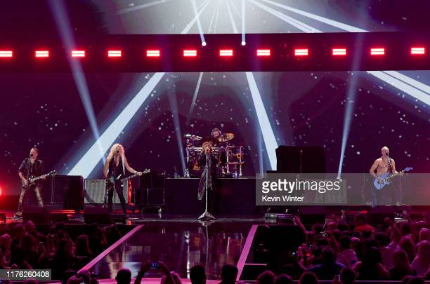 Def Leppard performs onstage during the 2019 iHeartRadio Music Festival at T-Mobile Arena on September 21, 2019 in Las Vegas, Nevada.