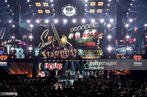 Def Leppard performs onstage during the 2019 iHeartRadio Music Festival at TMobile Arena on September 21 2019 in Las Vegas Nevada
