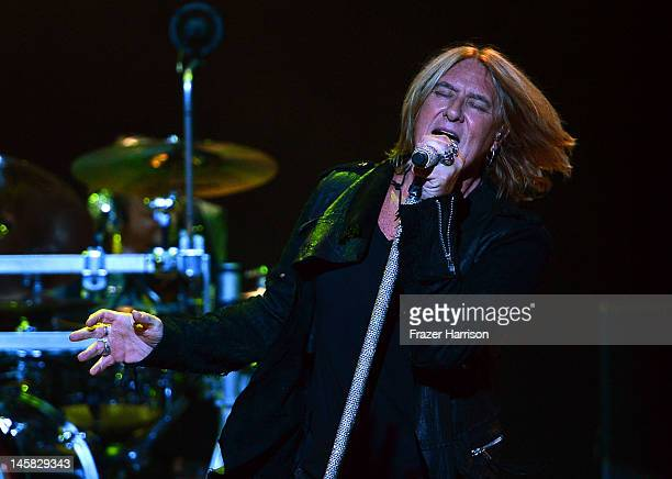 Def Leppard's Joe Elliott performs at YouTube Presents Def Leppard At The House Of Blues at House of Blues Sunset Strip on June 6 2012 in West...