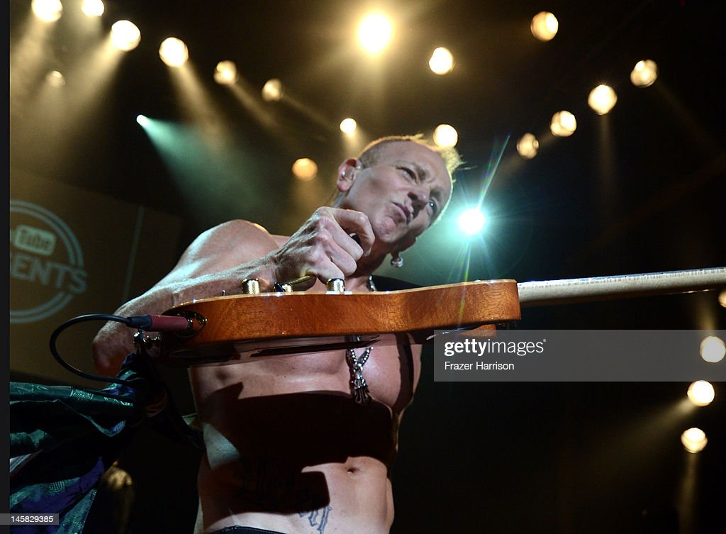 Def Leppard's Phil Collen performs at YouTube Presents Def Leppard At The House Of Blues at House of Blues Sunset Strip on June 6, 2012 in West Hollywood, California.