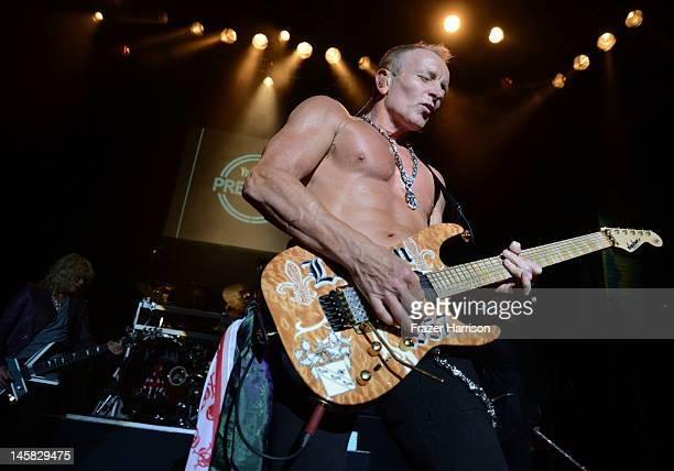 Def Leppard's Phil Collen performs at YouTube Presents Def Leppard At The House Of Blues at House of Blues Sunset Strip on June 6 2012 in West...