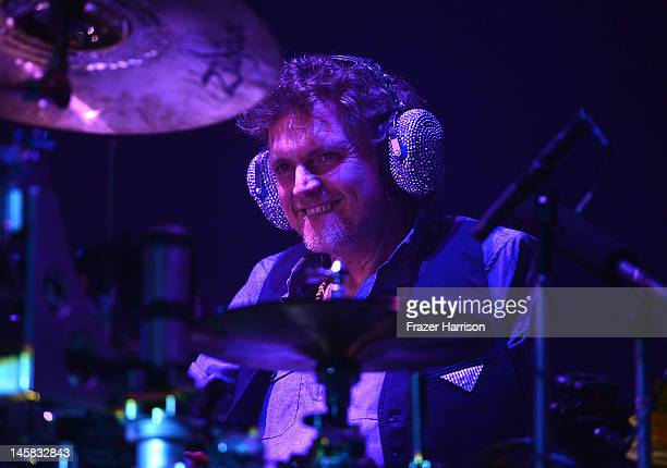 Def Leppard's Rick Allen performs at YouTube Presents Def Leppard At The House Of Blues at House of Blues Sunset Strip on June 6, 2012 in West...