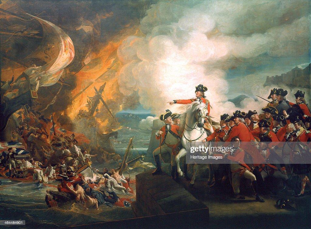 'Defeat of the Floating Batteries at Gibraltar', 1782 (c1783). Artist: John Singleton Copley : News Photo