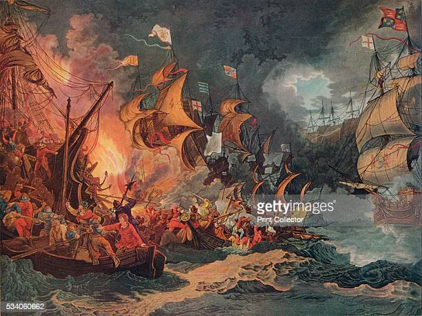Defeat of the Spanish Armada' from 'Old Naval Prints' by Charles N Robinson Geoffrey Holme 1924 The defeat of the Spanish Armada in 1588