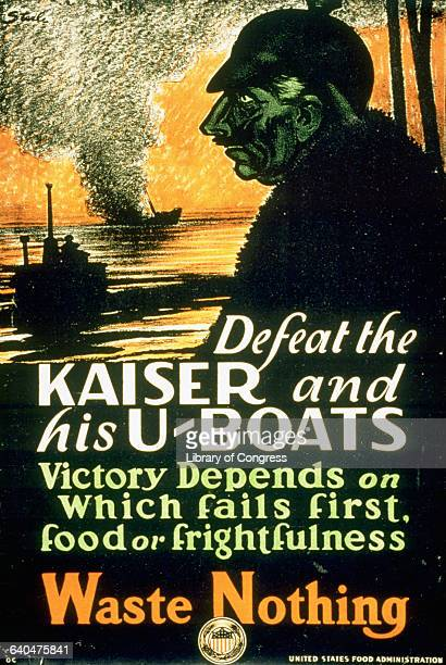 """""""Defeat the Kaiser and His U-Boats"""" World War I Poster"""