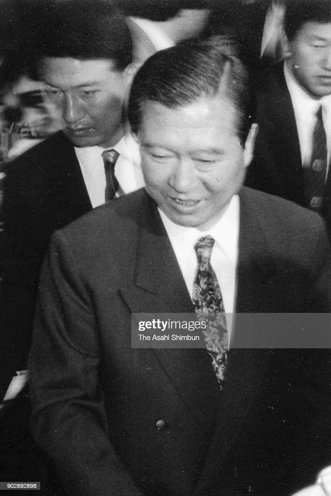Defeated presidential candidate Kim Dae-jung is seen a day after the presidential election on December 19, 1992 in Seoul, South Korea.