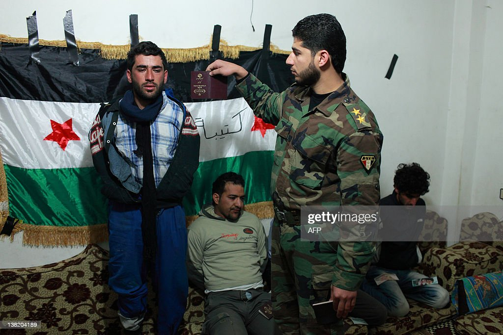 Defected Syrian soldier Abdel Razzaq Tlass of the Free Syrian Army