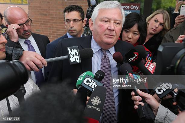 Defence attorney Brian Greenspan speaks to reporters outside Newmarket Courthouse after a brief court appearance by his client, Marco Muzzo who was...