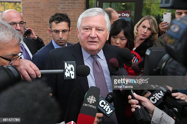 Defence attorney Brian Greenspan speaks to reporters outside Newmarket Courthouse after a brief court appearance by his client Marco Muzzo who was...