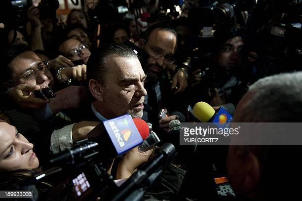 Defence barrister Frank Berton speaks to the press after the veredict was read at the end of the session to discuss the case of French citizen...