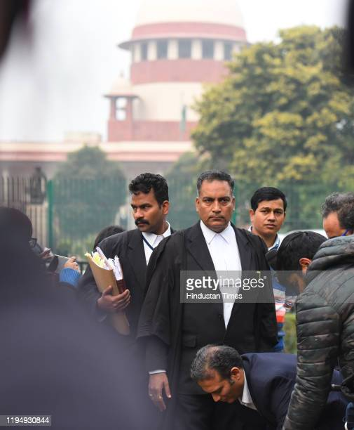 Defence lawyer in the December 2012 gang rape case AP Singh is seen after a hearing at Supreme Court on January 20, 2020 in New Delhi, India. The top...