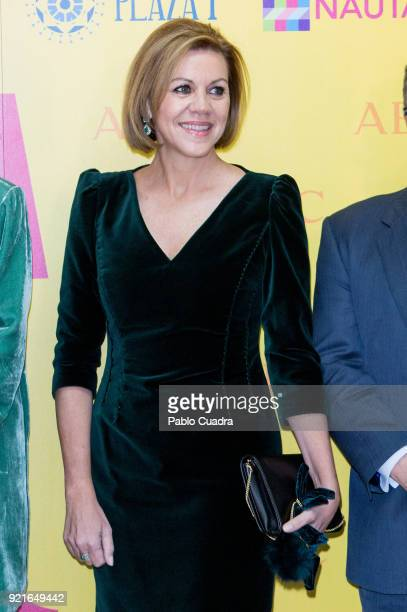 Defence Minister Maria Dolores de Cospedal attends the 'Premio Taurino ABC' awards at the ABC Library on February 20 2018 in Madrid Spain