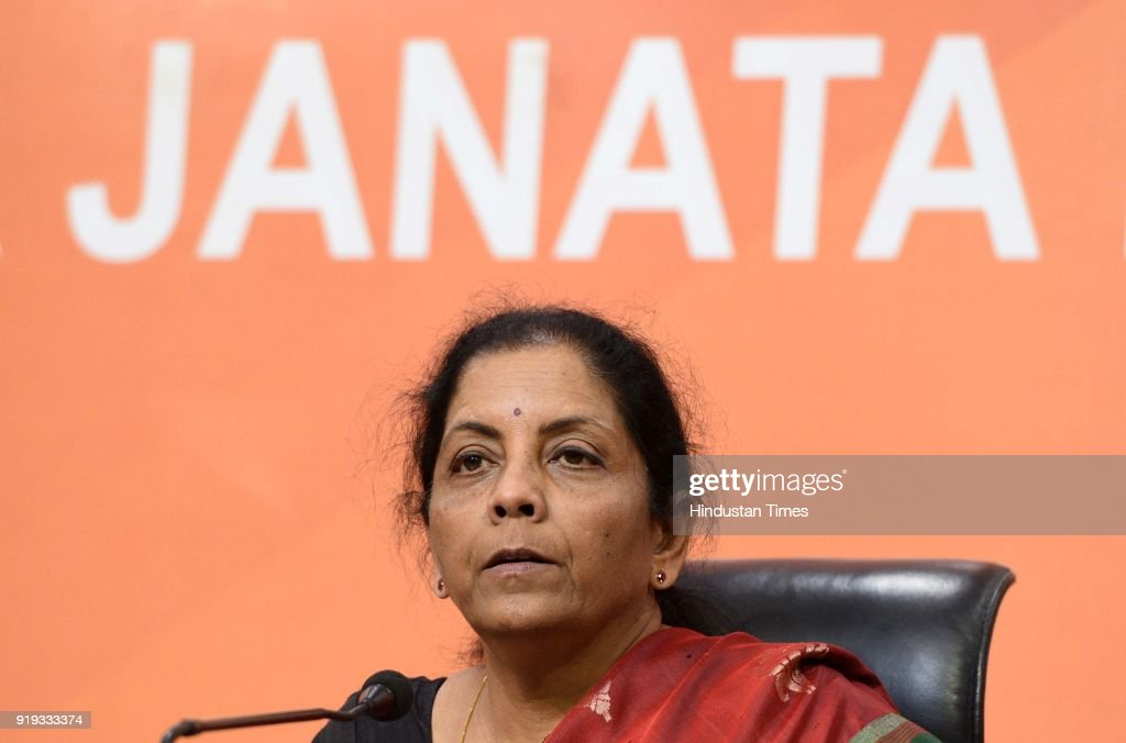 Defence Minister Nirmala Sitharaman Addresses A Press Conference On Nirav Modi Issue