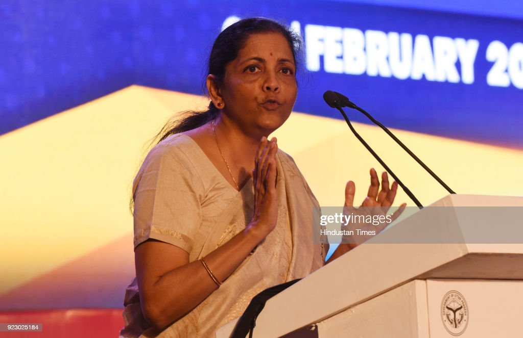Defence minister Nirmala Sitharaman speaking during the last day session of the Uttar Pradesh Investors Summit-2018 at the Indira Gandhi Pratishthan on February 22, 2018 in Lucknow, India. During UP Investors Summit, the state has attracted memorandum of understanding (MoUs) worth a whopping Rs 4.28 lakh crore.