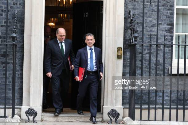 Defence Secretary Ben Wallace and Welsh Secretary Alun Cairns leaving after attending a cabinet meeting at 10 Downing Street London PA Photo Picture...