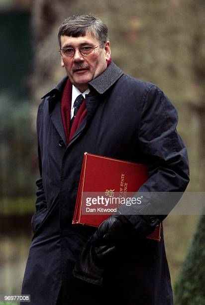Defence Secretary Bob Ainsworth arrives for the weekly cabinet meeting at Downing Street on February 23 2010 in London England According to the...