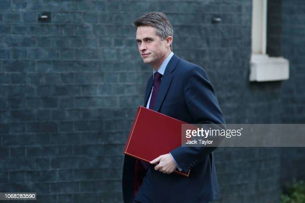 Defence Secretary Gavin Williamson arrives at 10 Downing Street as Ministers attend a weekly cabinet meeting ahead of a meaningful vote debate on the...