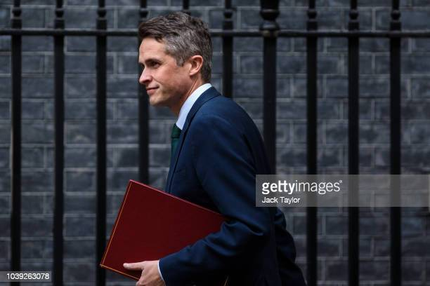 Culture Secretary Jeremy Wright and International Trade Secretary Liam Fox arrive for a Brexit cabinet meeting on immigration policy at Downing...