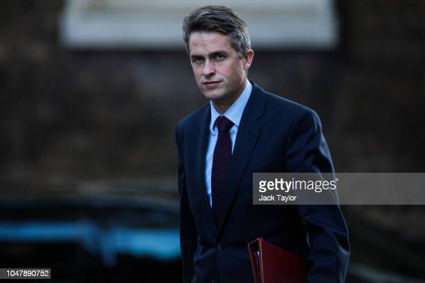 Defence Secretary Gavin Williamson arrives for a Cabinet meeting at 10 Downing Street on October 9 2018 in London England Parliament returns today...
