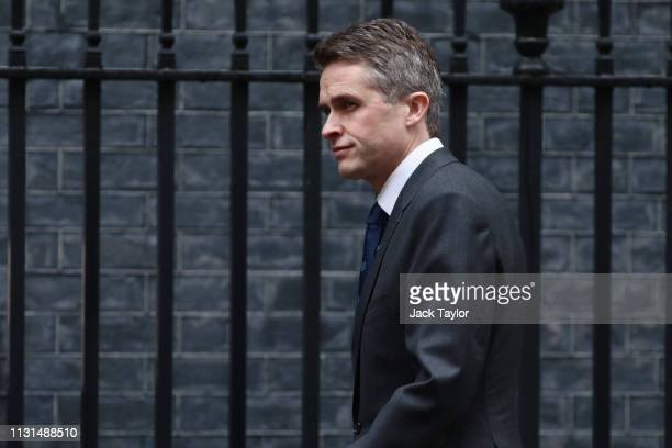 Defence Secretary Gavin Williamson arrives in Downing Street for a cabinet meeting on March 19 2019 in London England Yesterday speaker John Bercow...